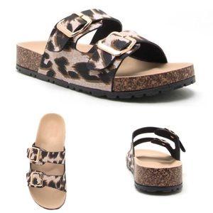 LAST 1 🖤 slip on sandals leopard print black